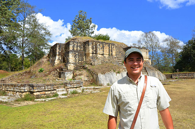 Our guide, Daniel, at Iximche.