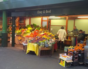 Fruit stand at Borough Market, London, markets around the world