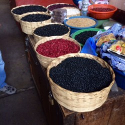Baskets of beans, Guatemala